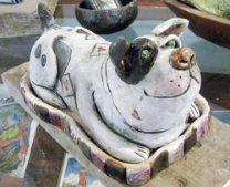 Doggy Butter Dish